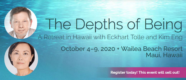 Retreat in Hawaii with Eckhart Tolle and Kim Eng October 2020