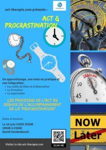 """ACT & PROCRASTINATION Les processus de l'ACT au service de l'accompagnement de la """"procrastination"""""""