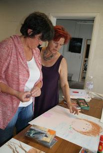Ateliers Méthode de l'art-thérapie évolutive®avec Brigitte Dewandre et Marie-Odile Brêthes