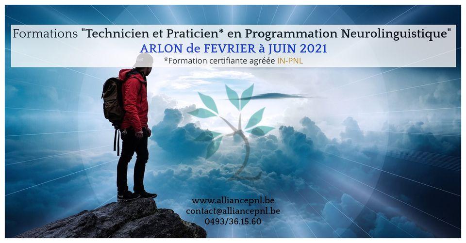 Formations Technicien et Praticien en PNL à ARLON de février à juin 2021