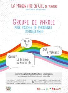Groupe de parole pour proches de personnes Trans @ Maison Arc en Ciel de Verviers Ensemble Autrement | Verviers | Wallonie | Belgium
