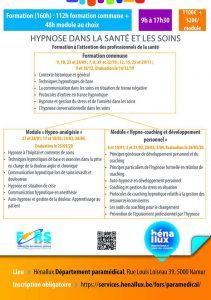 Hypnose dans la santé et les soins (Module Hypno-analgésie) @ Hénallux - FORS - Paramédical | Namur | Wallonie | Belgium