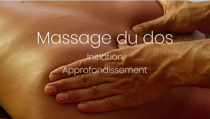 Initiation massage du dos avec Olivier Pilette