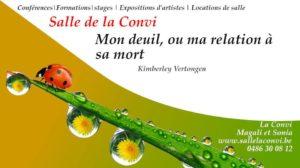Mon deuil, ou ma relation à sa mort @ La Convi   Soumagne   Wallonie   Belgium