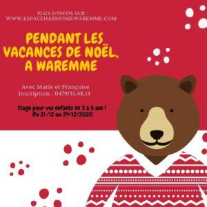 Stage de Noël pour les enfants de 3 à 5 ans @ Espace Harmonie de Waremme, | Waremme | Wallonie | Belgium