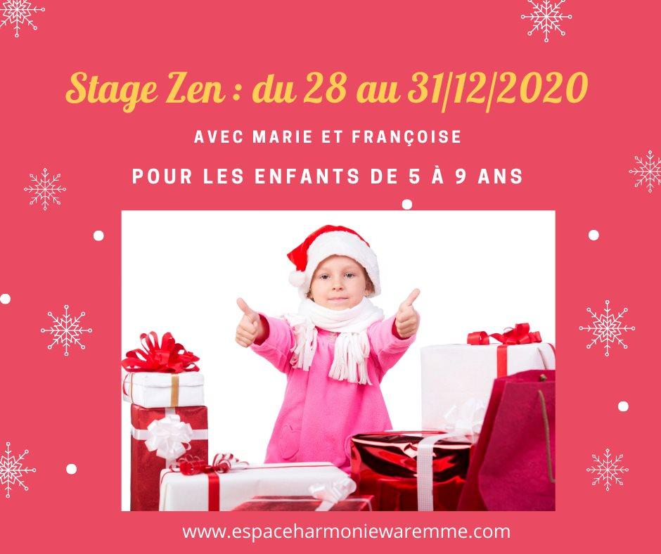 Stage zen pour les enfants de 5 à 9 ans, Noël 2020