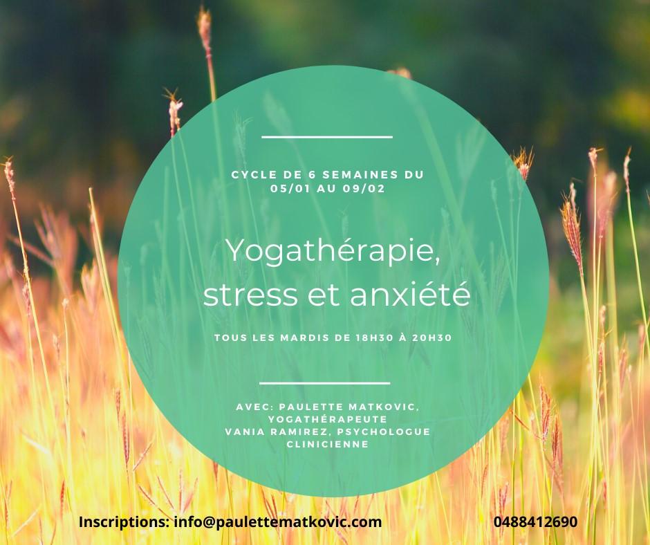 Yogathérapie, stress et anxiété